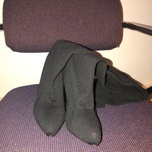 Shoes - Black thigh high heels